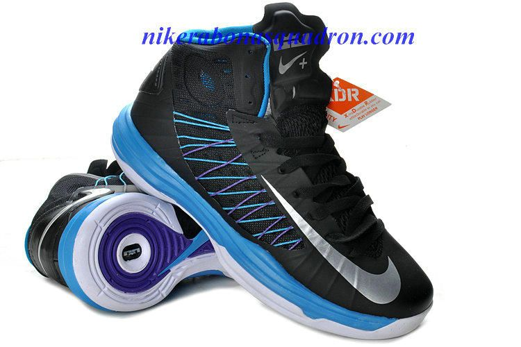 quality design d61e9 126b9 Blue Glow Nike Lunar Hyperdunk 2012 Sport Pack Black Metallic Silver Blue  Tint 524948 001 01