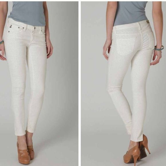 """AG Adriano Goldschmied The Legging Leopard Ecru Gorgeous!! EUC. No flaws! Waist measured flat is 15.5"""". 8"""" rise. 28"""" inseam. AG Adriano Goldschmied Jeans Skinny"""