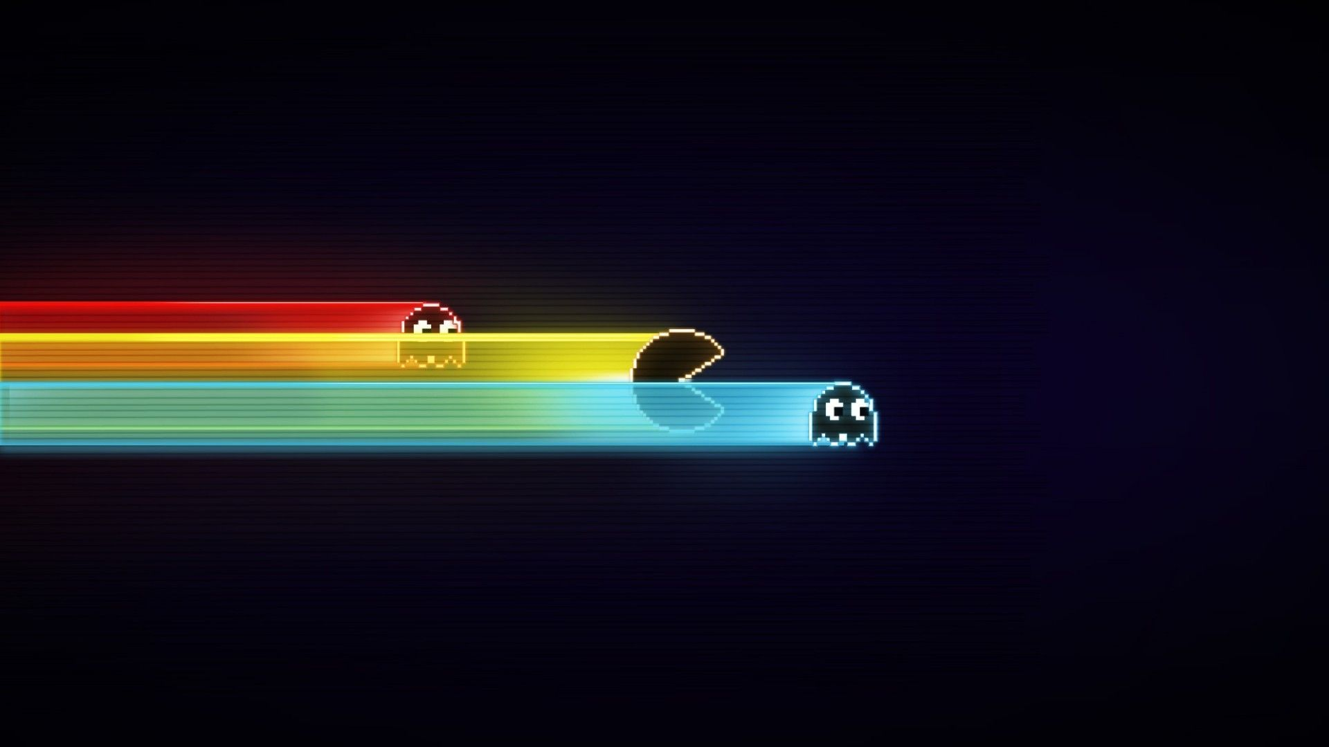 Pacman Minimalism Black Gameboy Blue Video Games Old Games Wallpaper Free Android Wallpaper Gaming Wallpapers 2048x1152 Wallpapers