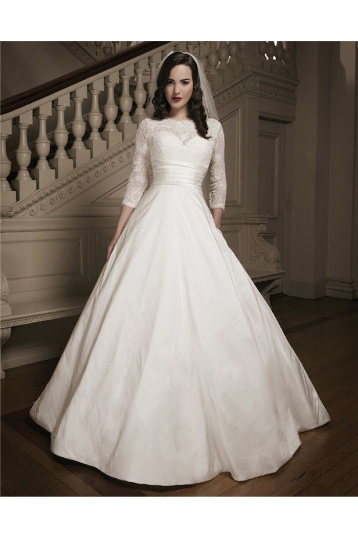 Images of Ball Gown Wedding Dress With Lace Sleeves - Weddings Pro