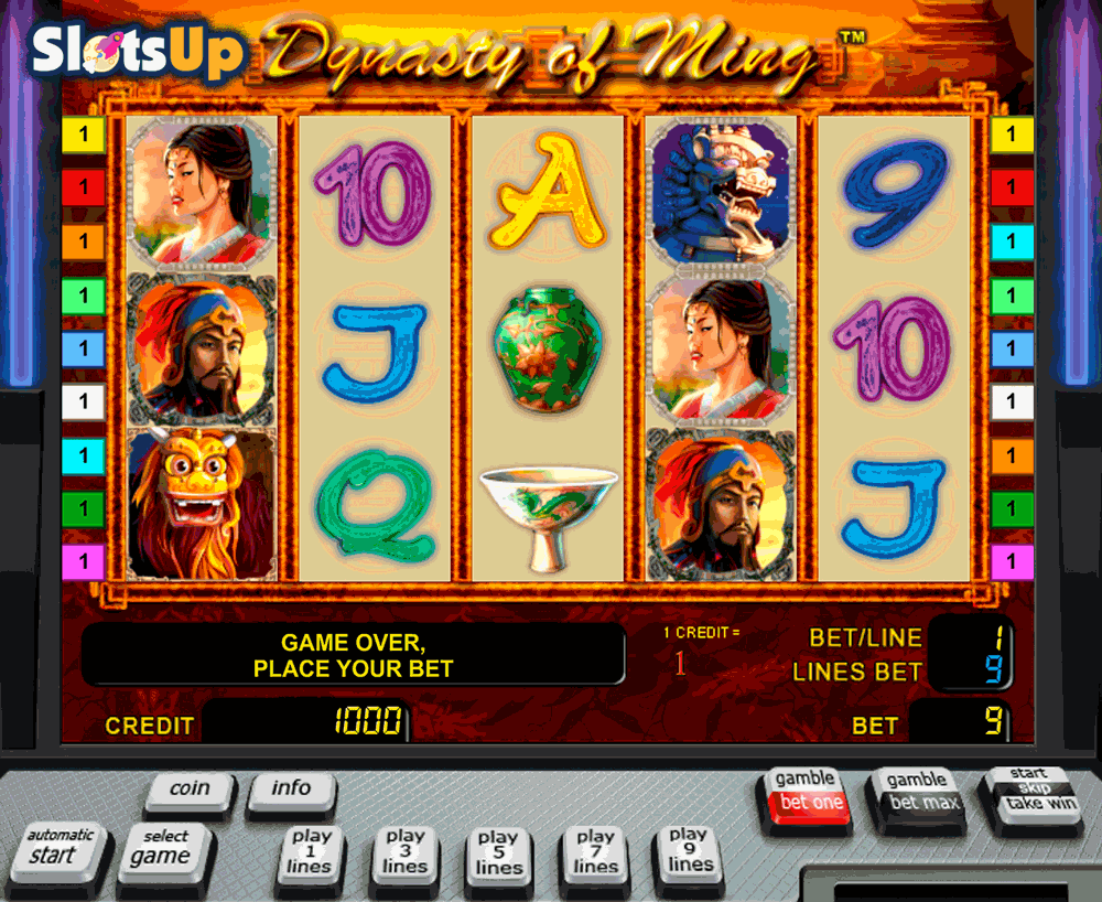 The Ming Dynasty Slot by Novomatic Play FREE at SlotsUp
