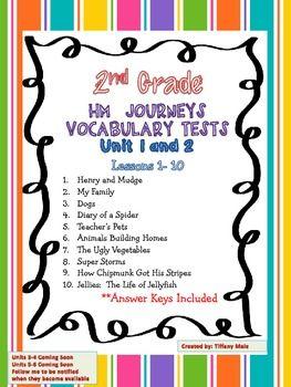 2nd grade vocabulary words pdf