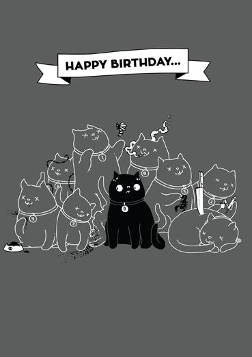 Yol9l Cat Birthday Card Open Me Cat Birthday Card Cat Birthday Birthday Cards