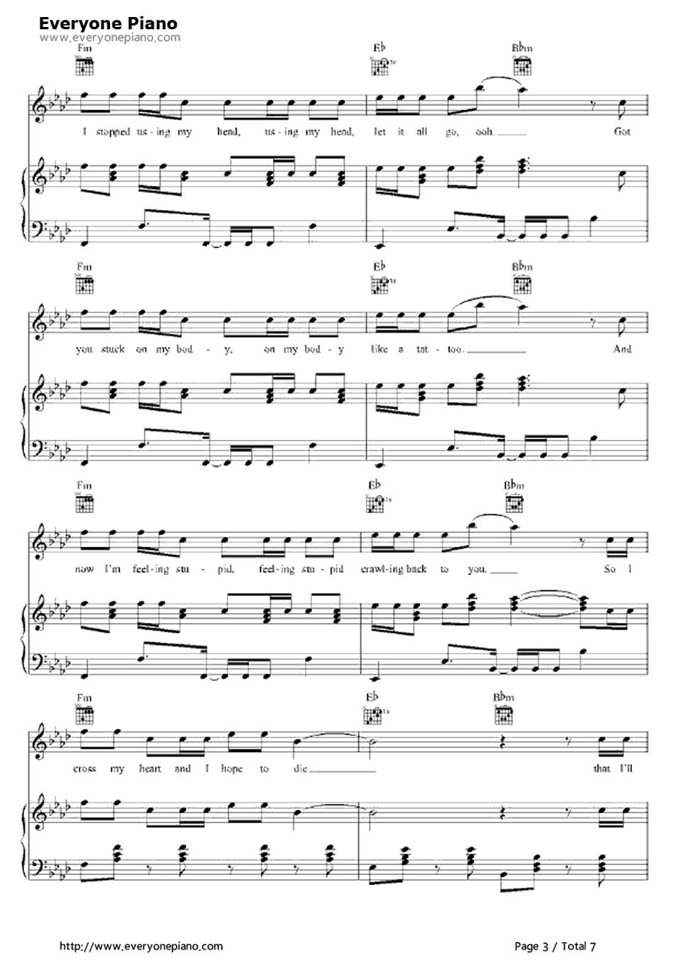 Free One More Night Maroon 5 Piano Sheet Music Preview 3 Free Piano Sheet Music Piano Chords One More Night Sheet Music Maroon 5