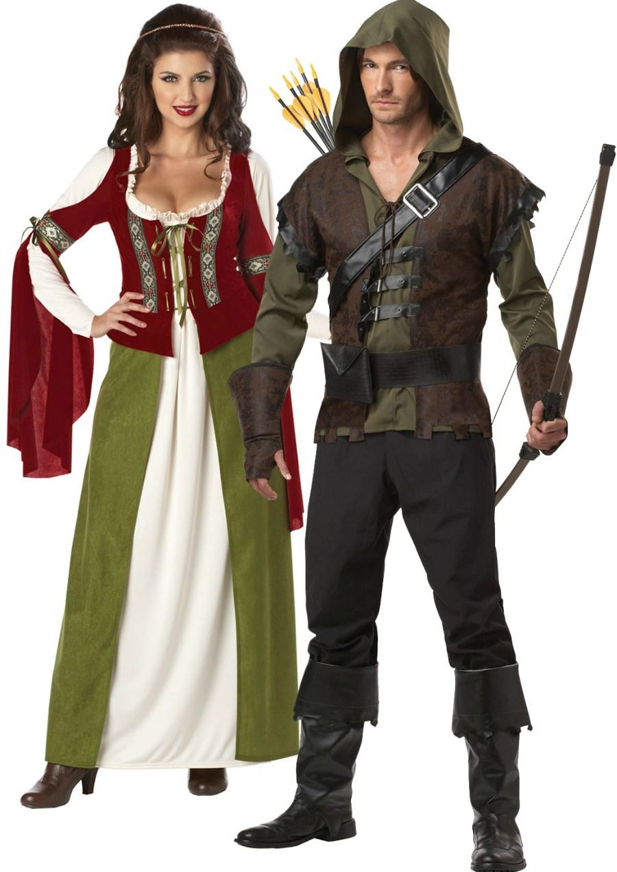 Robin Hood and Maid Marian Costume Sewing Pattern UNCUT Adult ...
