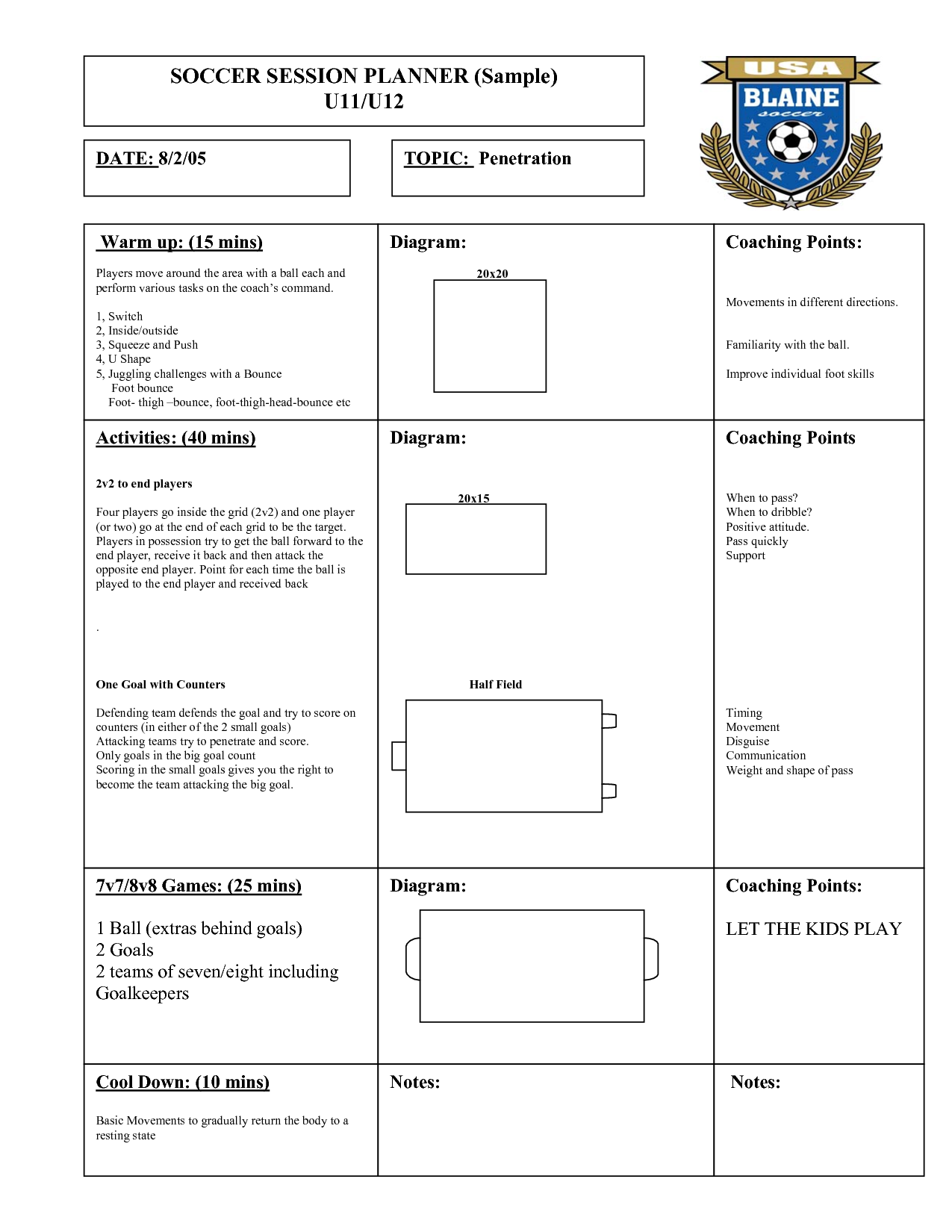 football practice plan template - soccer practice planner soccer is life pinterest