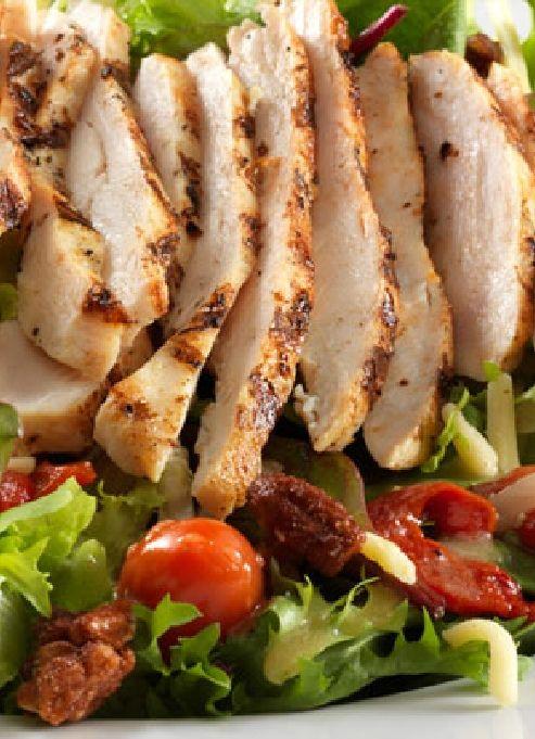 Low FODMAP & Gluten free Recipe - Chicken salad with crisp bacon http://www.ibssano.com/low_fodmap_recipe_chicken_salad_crisp_bacon.html