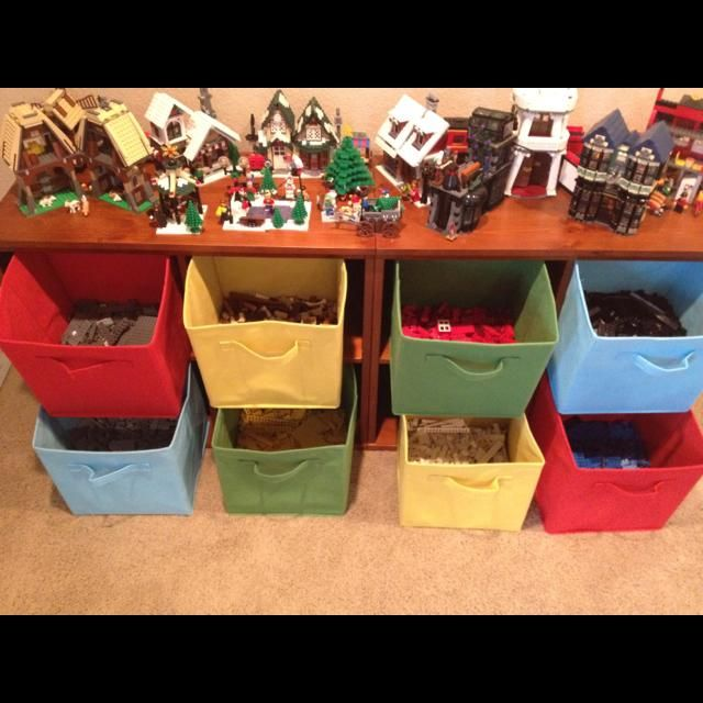Fabric Drawers Are Great For Organizing Legos By Color If Your Collection Isn T Quite This Large Tr Lego Organization Pottery Barn Kids Lego Program