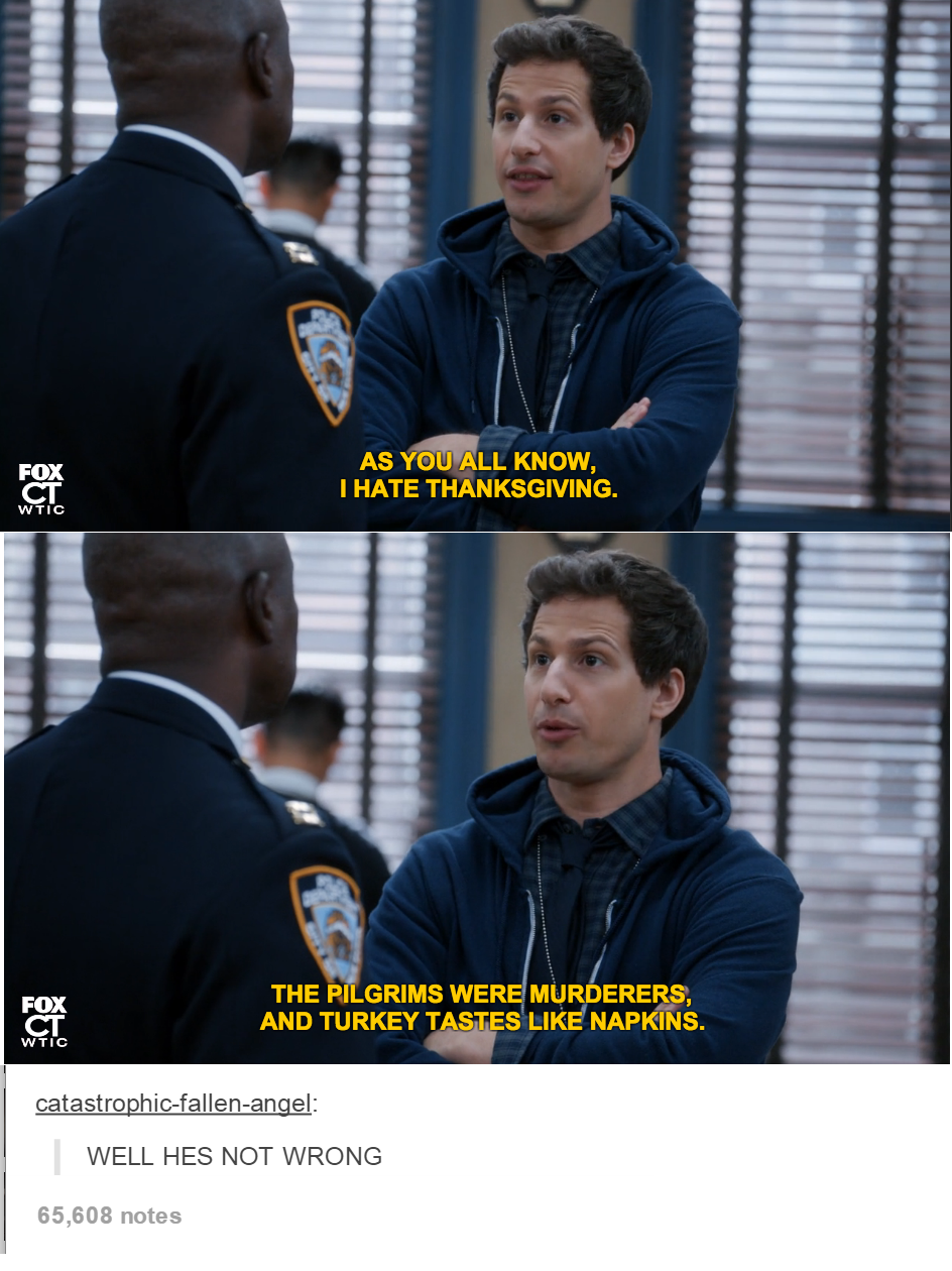 Thanksgiving Brooklyn Nine And Funny