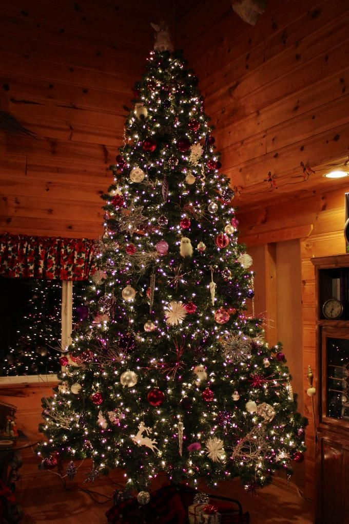 Pink Purple Christmas Tree All Things Pinterest