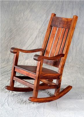 Antique Rocking Chair Is Made Of Teak Wood Woodworking