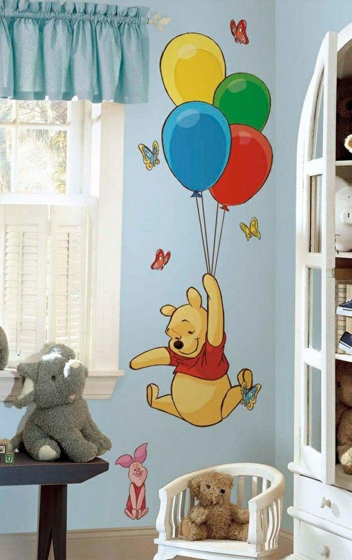 Babyzimmer deko wand junge  50 Deko Ideen Kinderzimmer - Reichtum an Farben, Motiven und Ideen ...