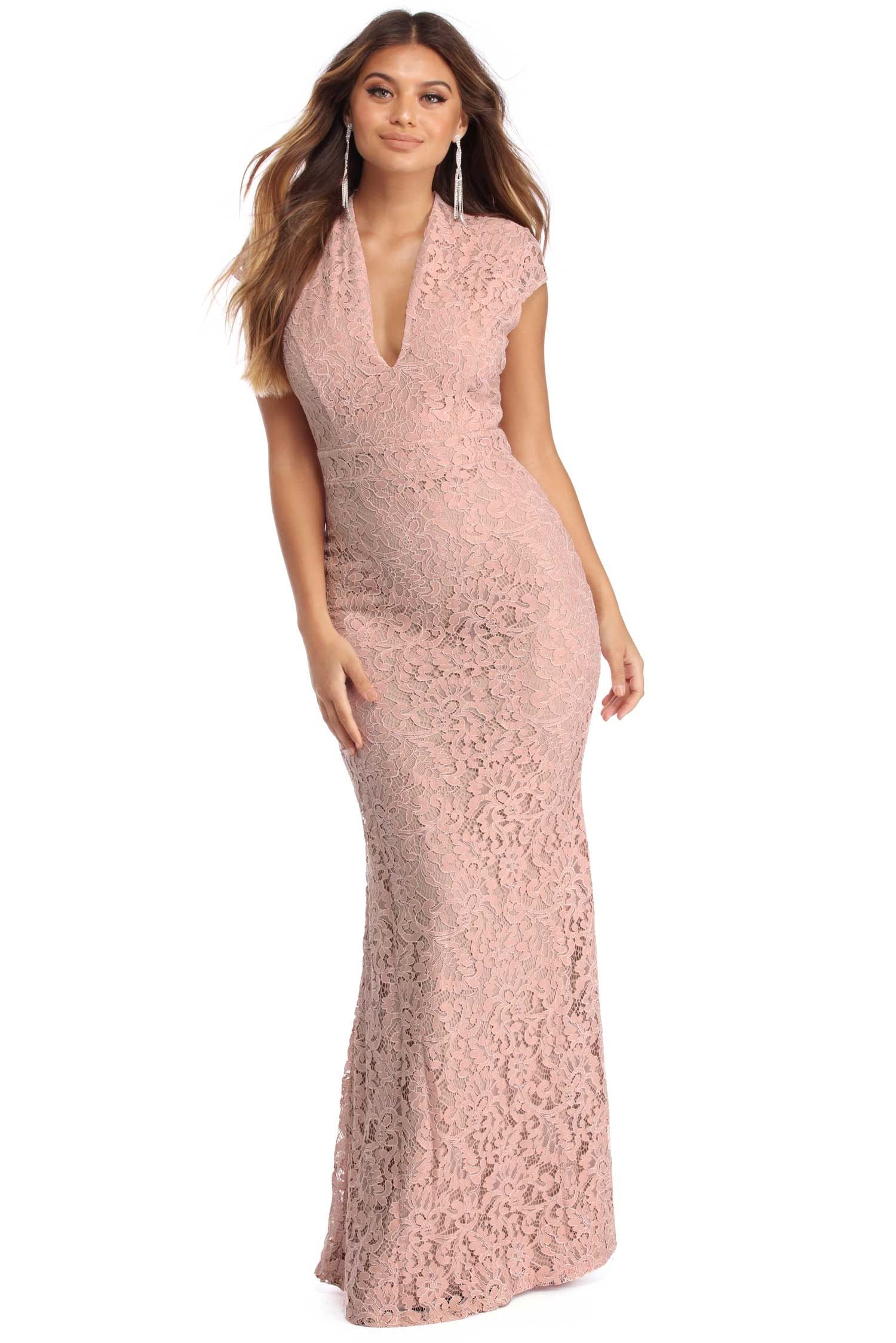 Sania Pink Lace Prom Dress | windsor | Red Carpet Ready | Pinterest ...