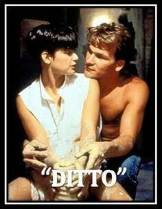 I Love You Ditto From The Movie Ghost With Patrick Swayze And