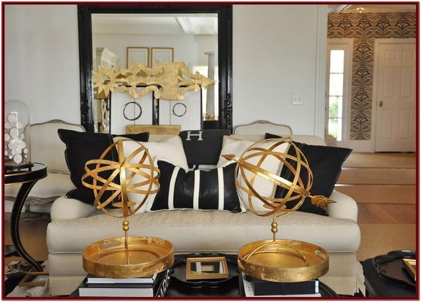 Dekor Gold Ideen Schwarz Und Wohnzimmer Schw In 2020 Beige