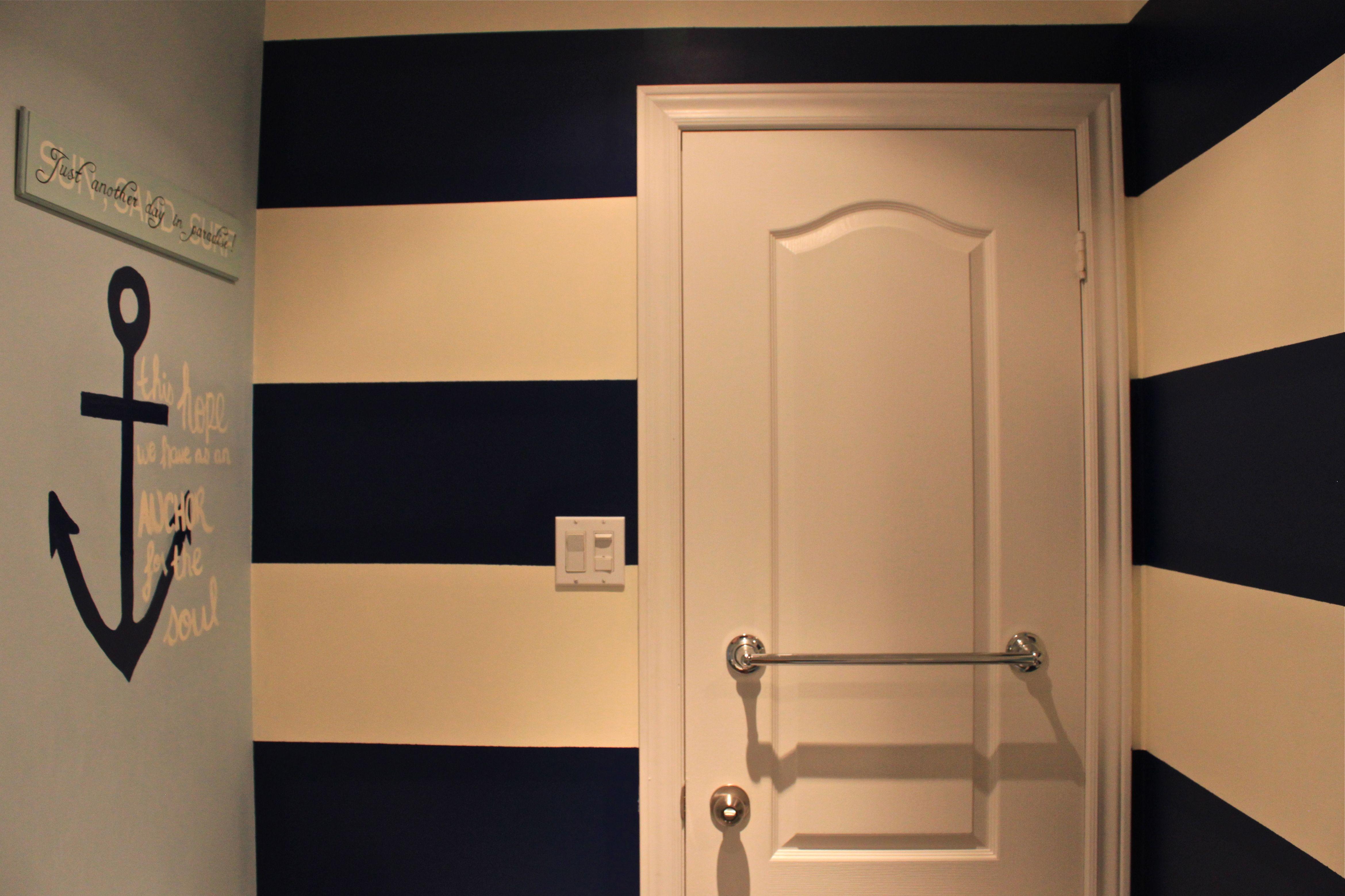 Badezimmer ideen marine nautical bathroom  lovelyanchors  pinterest