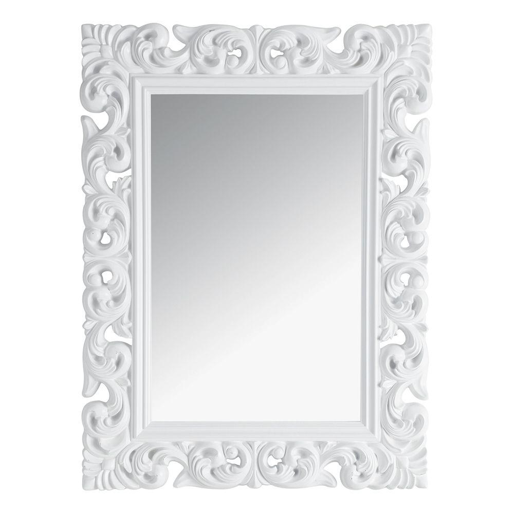 Miroir Rivoli blanc 120x90 Deco Pinterest