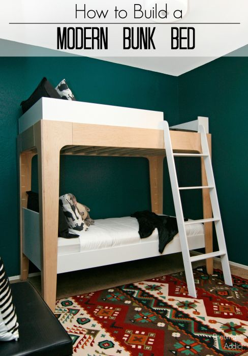 How To Build Modern Bunk Beds. Use FREE Building Plans To Make A Set Of