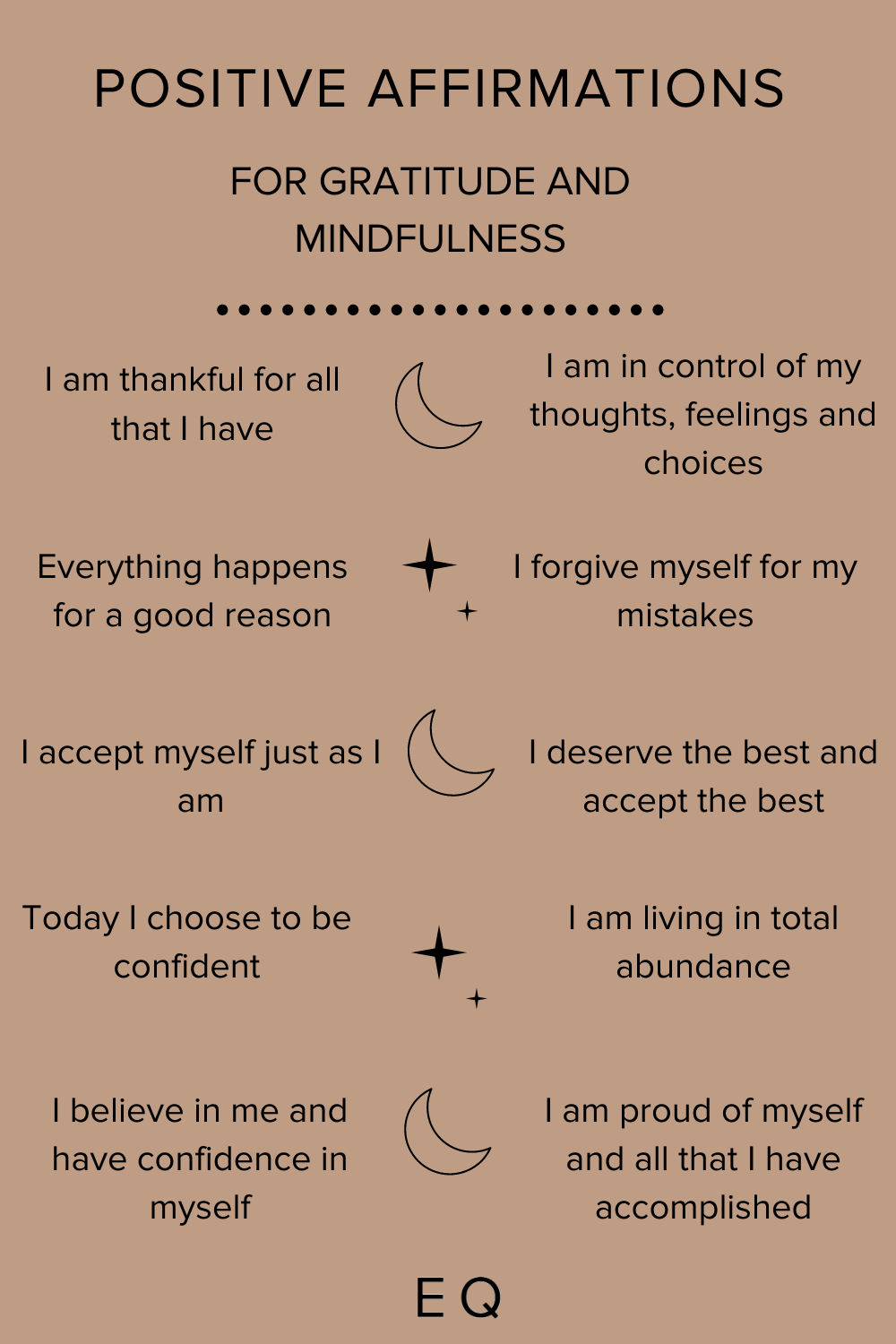 Positive Affirmations for Gratitude and Mindfulness