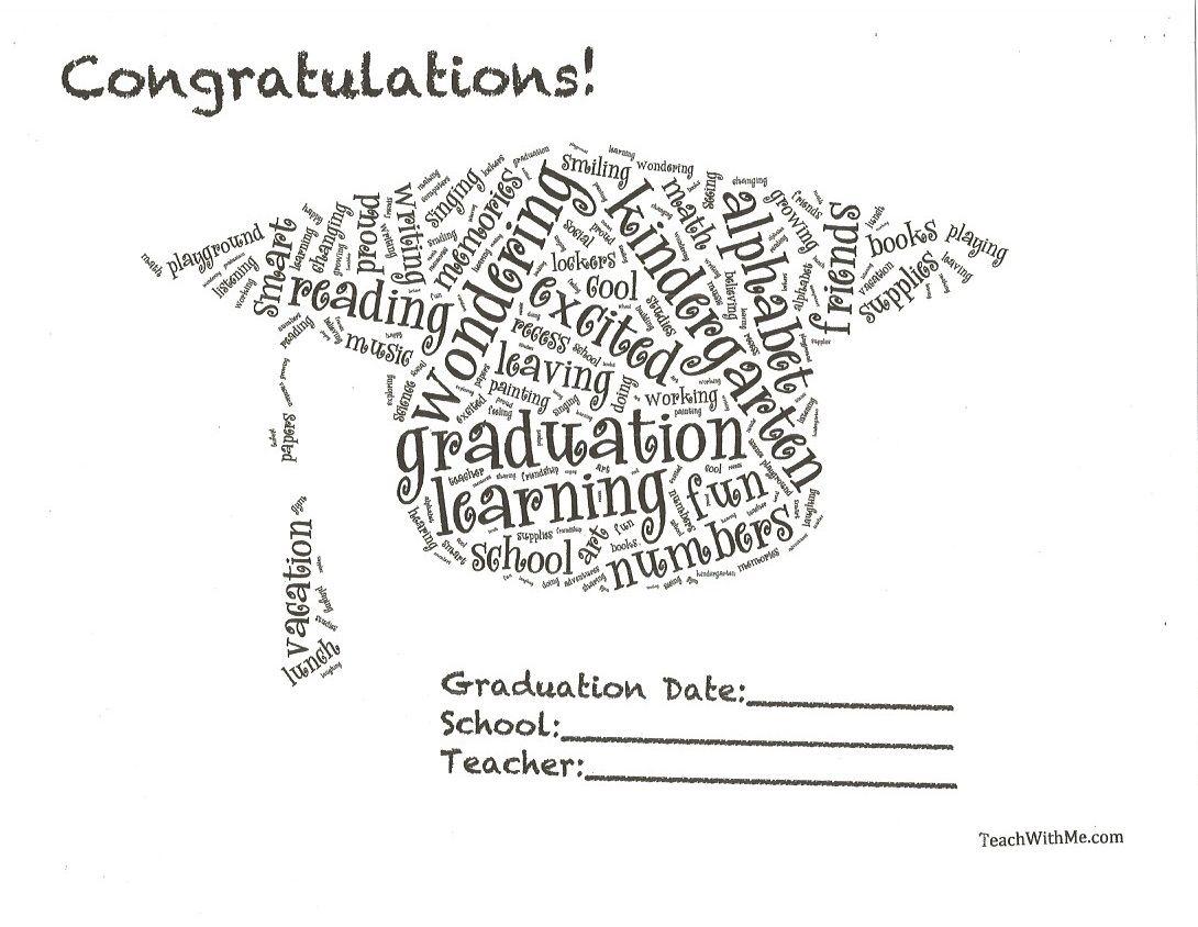 Preschool or Kindergarten Graduation Certificates | Teaching ...