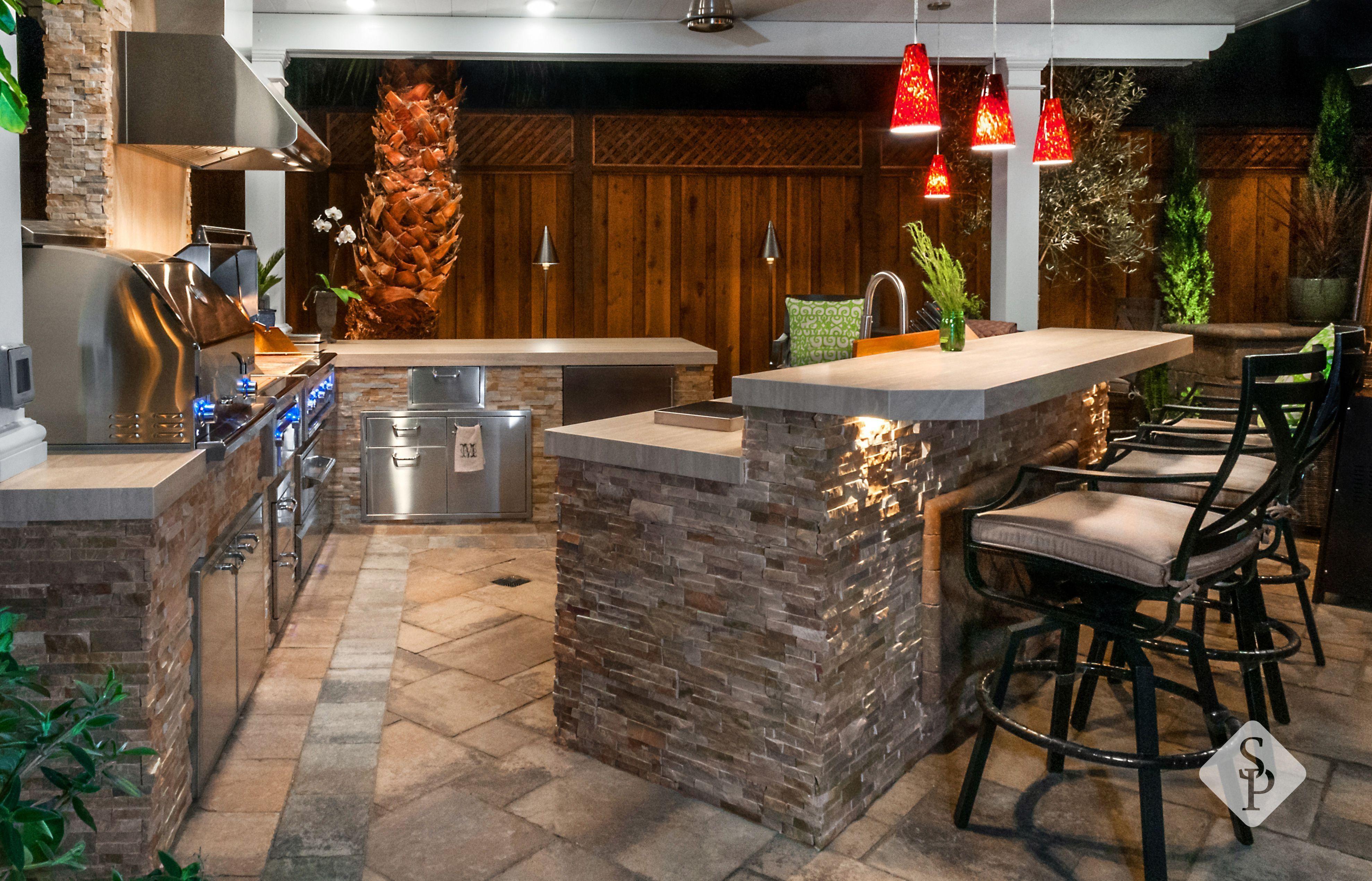 34 Cozy Fireplace Outdoor Ideas with Bar Decor | Backyard ...