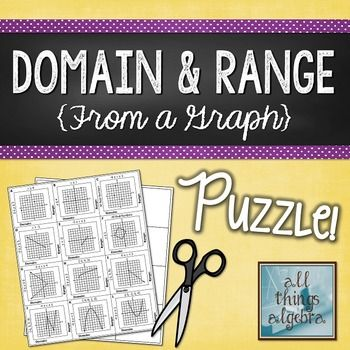 Domain And Range From A Graph Puzzle My TpT Store All