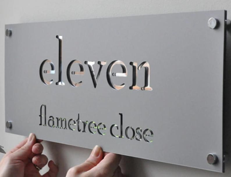 Sale Createme Metal House Sign House Names Stainless Etsy Metal House Signs Name Plates For Home House Numbers