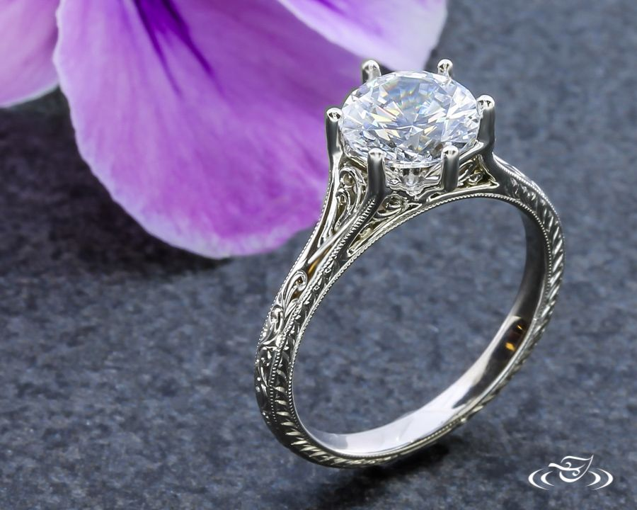 A #GreenLakeJewelry favorite! #Petite #Filigree #Solitaire