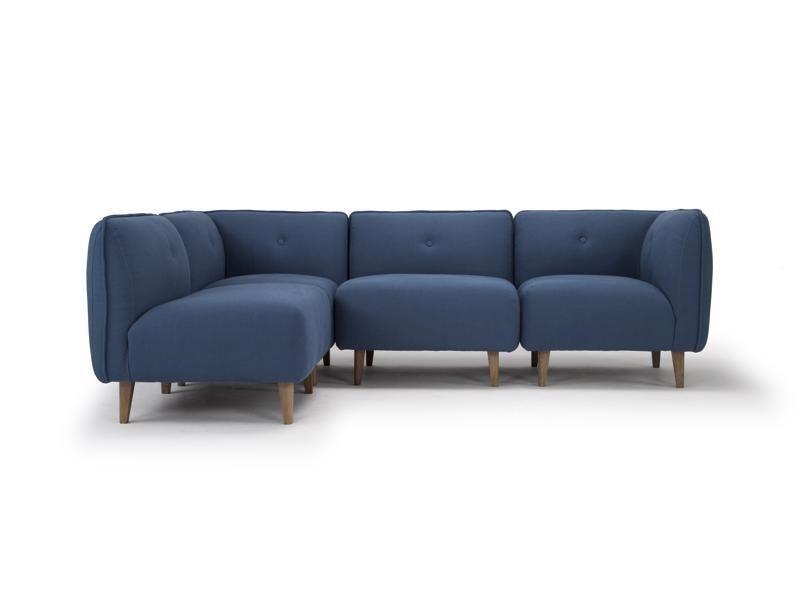 Large Modular Corner Sofa In Petrol Blue Linen By Calvers Suvdal Sofa Three Seater Sofa Modular Corner Sofa