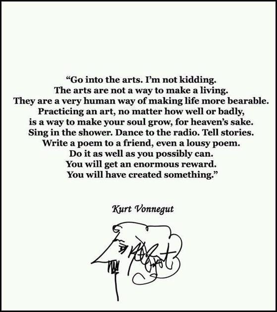 go into the arts..