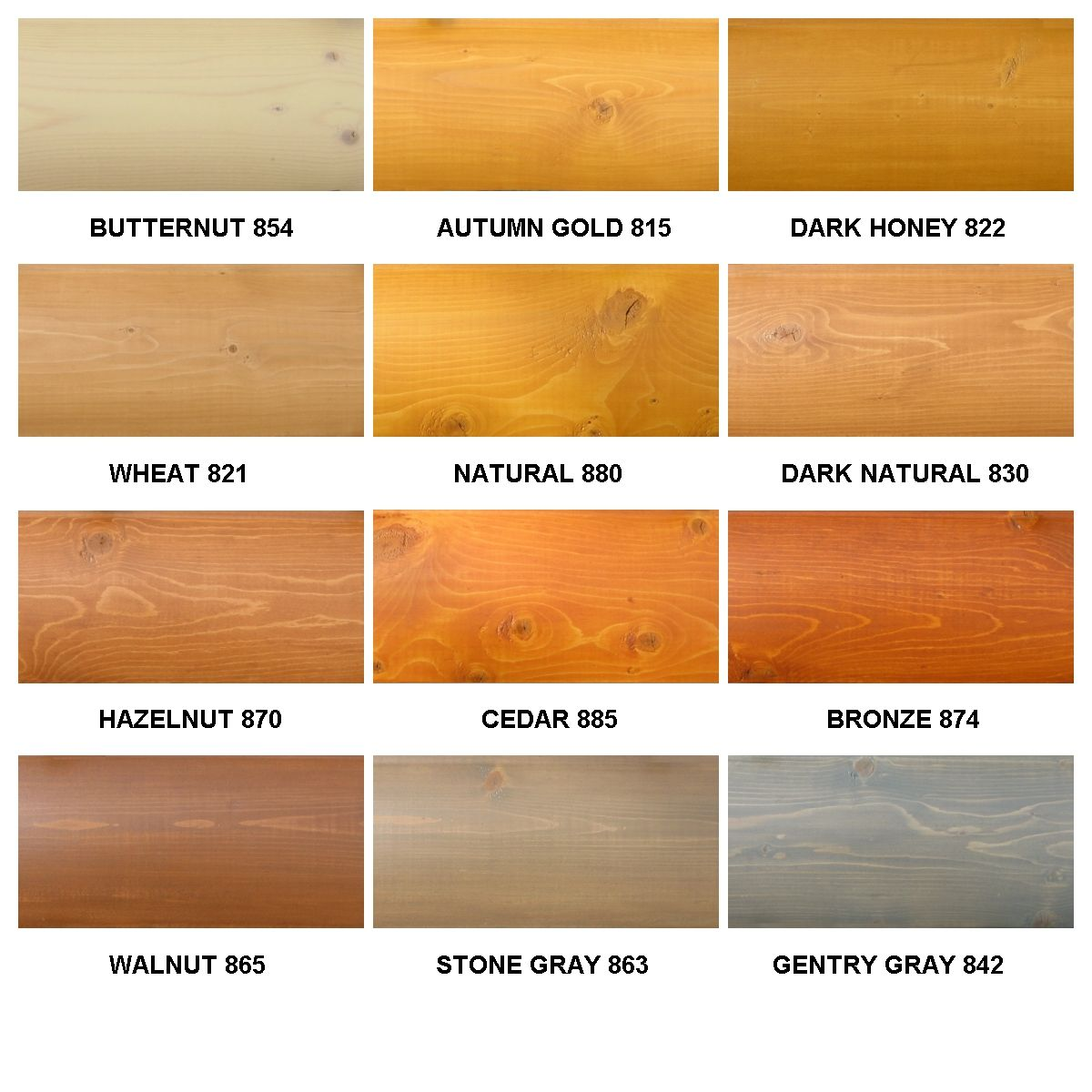 Wood Stain Color Chart | Perma-chink\'s Lifeline Ultra-2 Color Chart ...