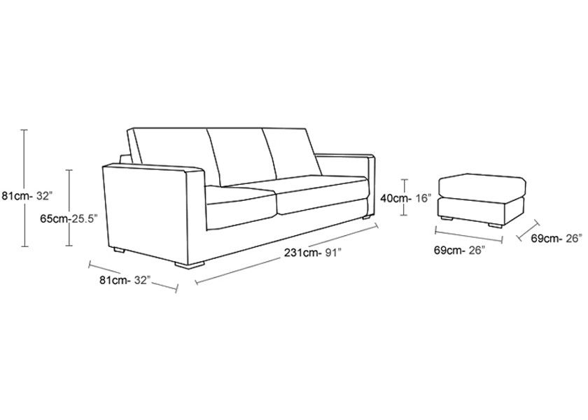 small sectional sofa dimensions photo - 4 | Interior ...