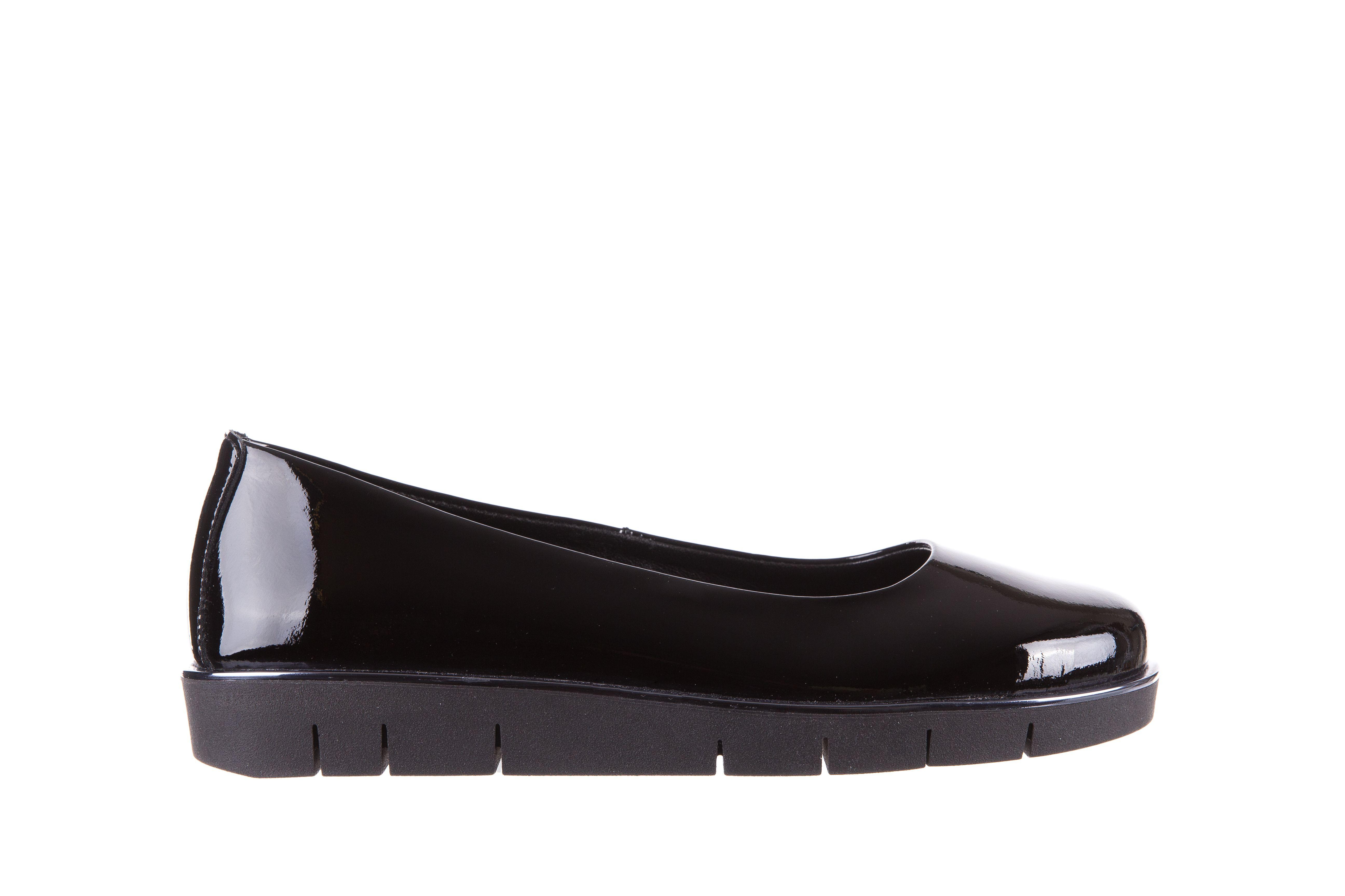 The Flexx D1039 07 Black Lakier Czarne Baleriny Wloskiej Marki The Flexx Wykonane Z Lakierowanej Skory Naturalnej Na Grubszej Podeszwie Shoes Flats Fashion