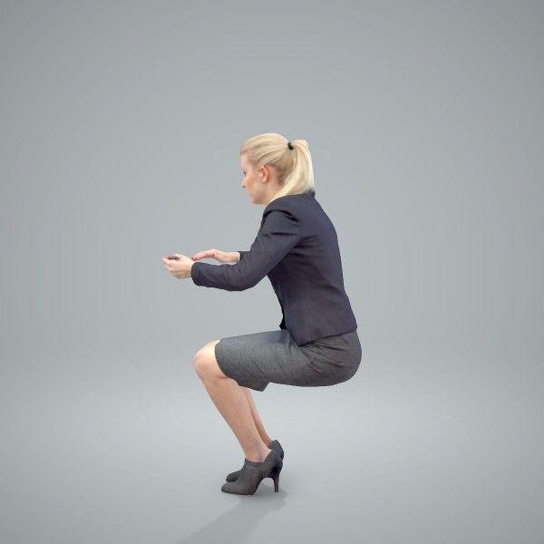 Business Woman Bwom0403hd2o01p01s Ready Posed 3d Human
