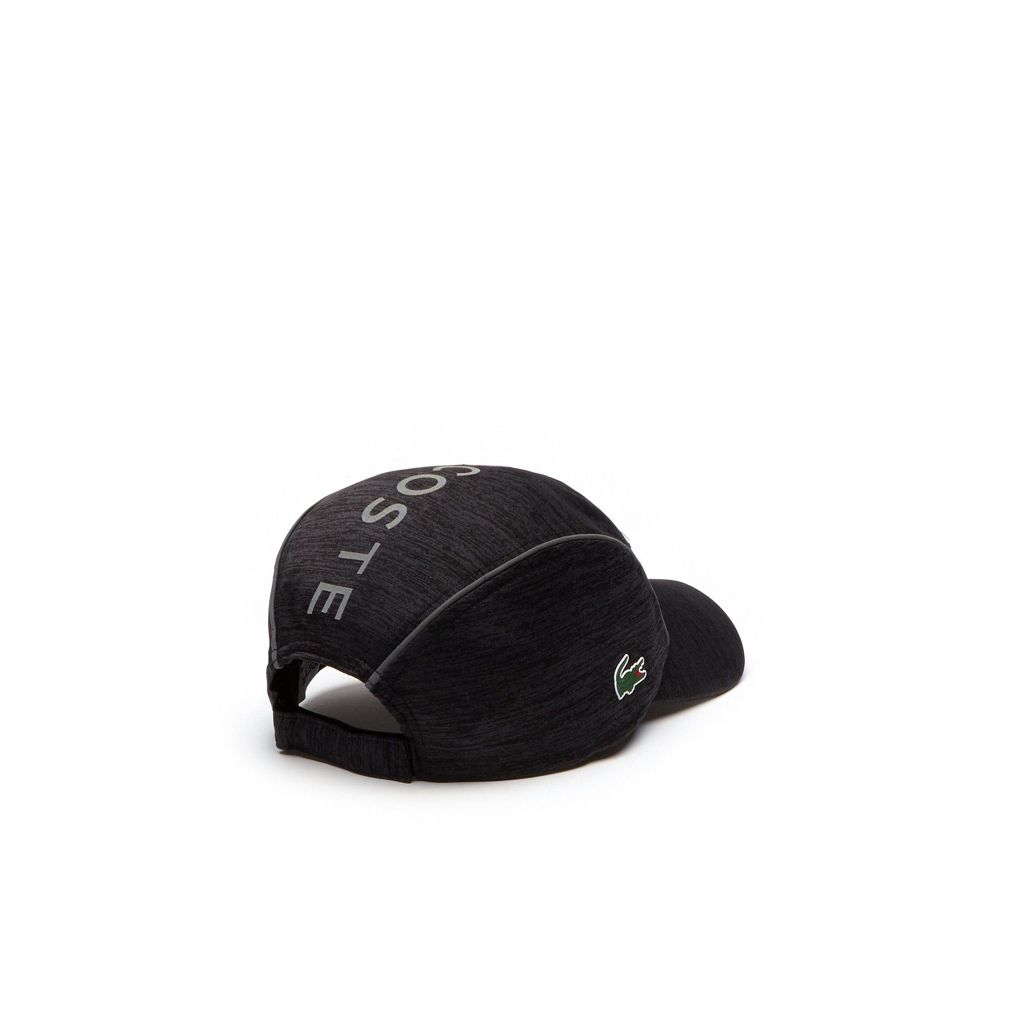 360b126a126d Lacoste Men's Sport Tennis Jersey & Metallic Mesh Cap - Black/Black ...