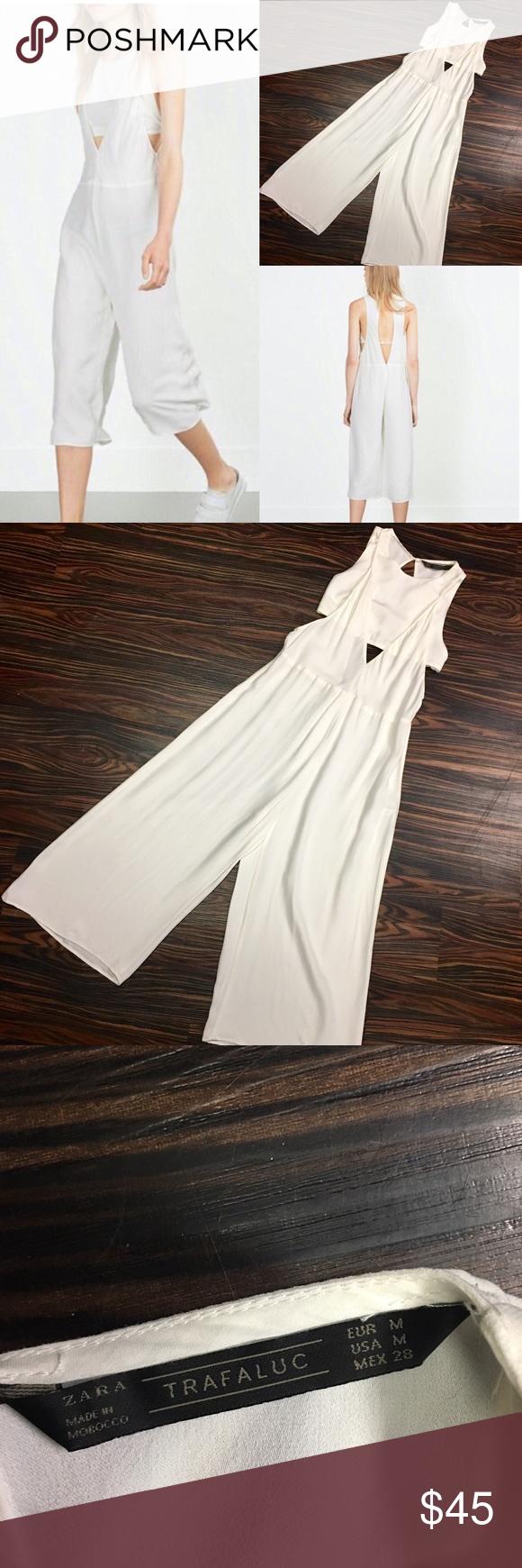 605c50c07bb Zara Trafaluc culotte jumpsuit In gorgeous crêpe de Chine