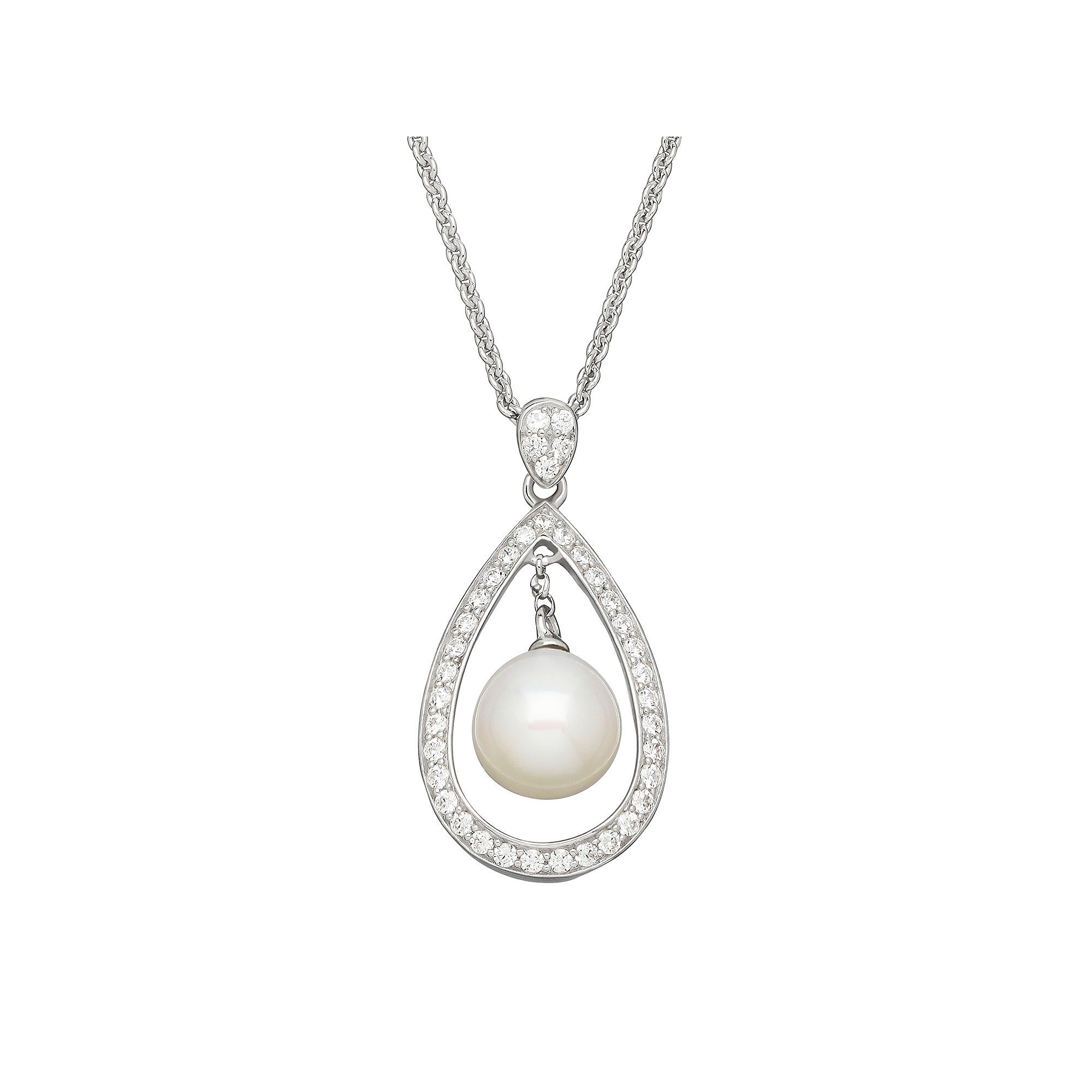 pearl earring pendant cultured products set cubic zirconia freshwater