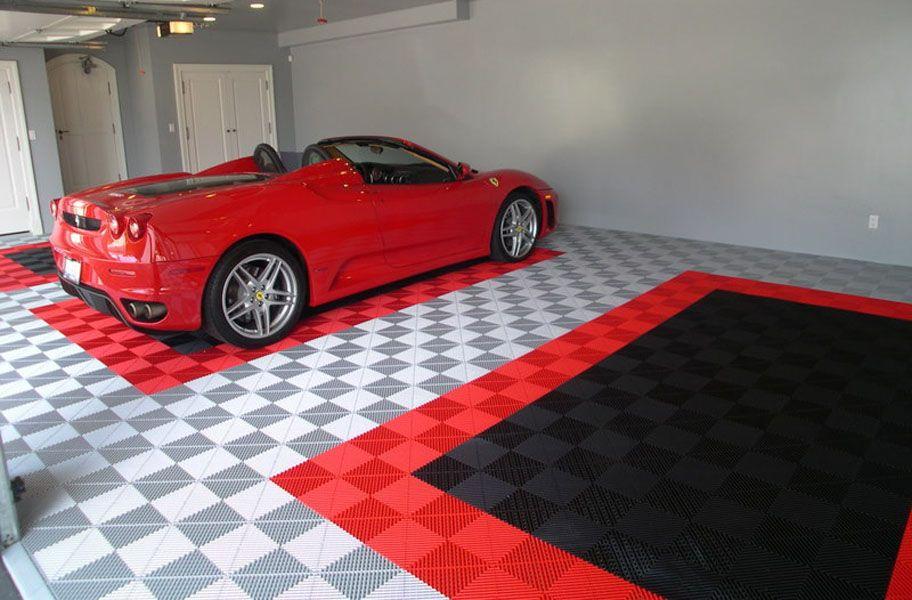 Ribtrax Tiles Premium Interlocking Garage Tiles Garage Design Rubber Garage Flooring Garage Tile