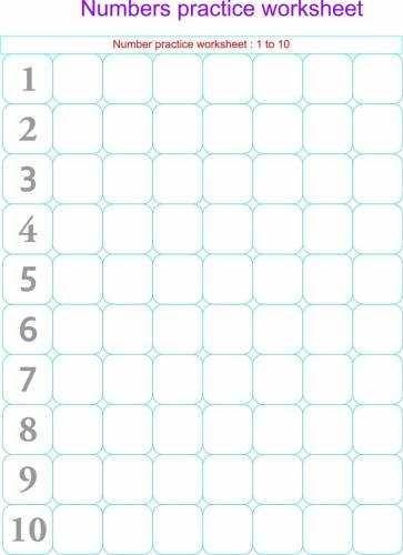 Preschool Number Writing Worksheets 1 10 #3 | Handwriting ...