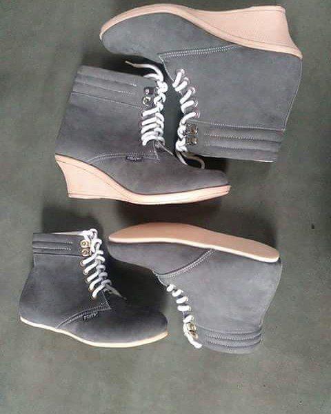 Sepatu Kulit Boots Wanita Couple Nasyila By Smo Pre Order