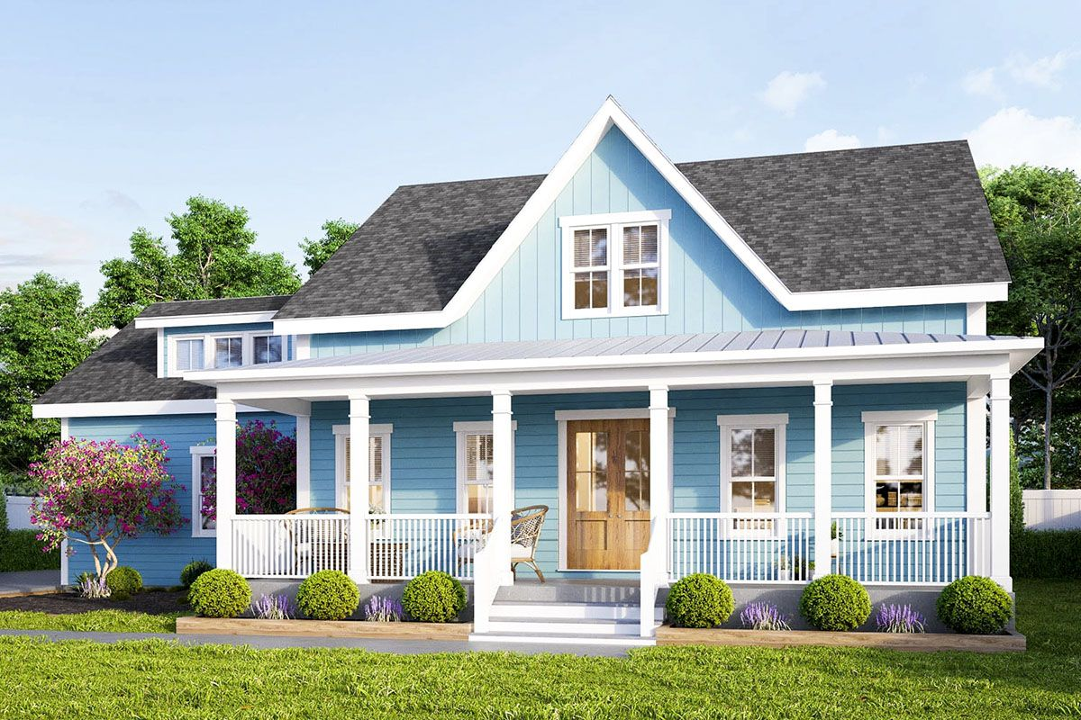 Plan 50176ph Peaceful Country House Plan With Screened Porch In 2021 Farmhouse Style House Plans Country House Plan Farmhouse Style House
