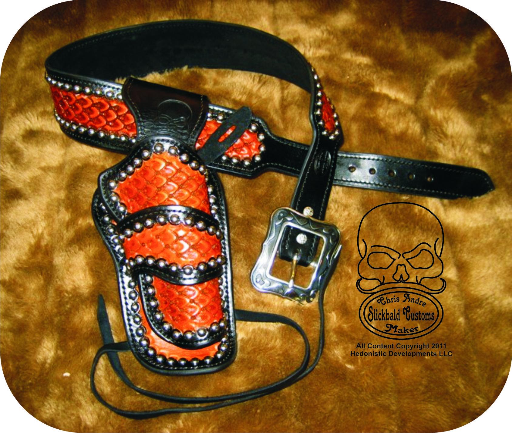 Black and Tan Cowboy Fast Draw Rig www slickbald com
