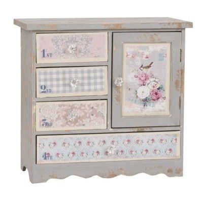 Petit Meuble Armoire Buffet Decoratif Style Papier Peint Fleuri Moveis Decoracao Moveis Decoracao