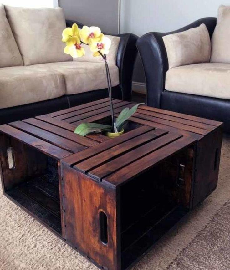 Holzpaletten in Ihrem Interieur. 30 Foto-Ideen - Mach es selbst  - palets #DIY Wohnzimmer #wohnen DIY Wohnzimmer #DIY Wohnzimmer wanddeko #machesselbst–diy