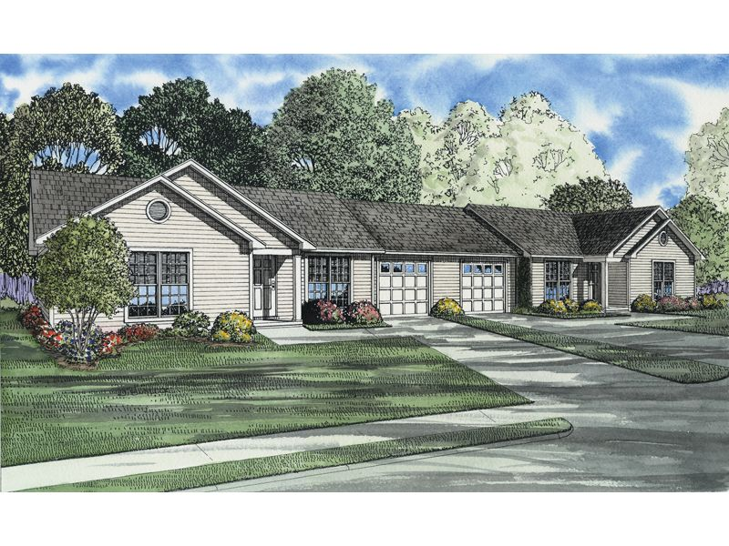 Ranch style duplex has loads of curb appeal dream home for Ranch duplex plans