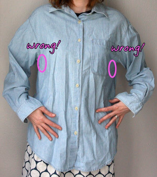 How to refit a button down shirt to your size  | Clothing to