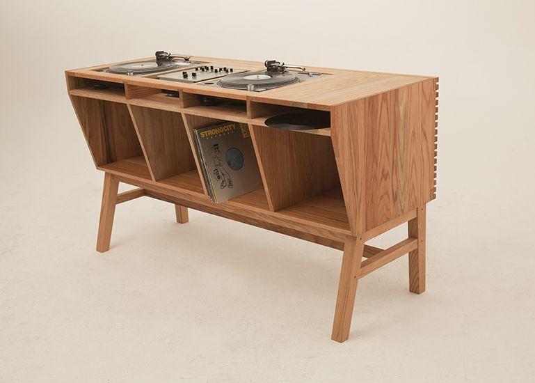 standard dj table prototype dj table custom made for dj soulscape red oak 2013 by the ms. Black Bedroom Furniture Sets. Home Design Ideas