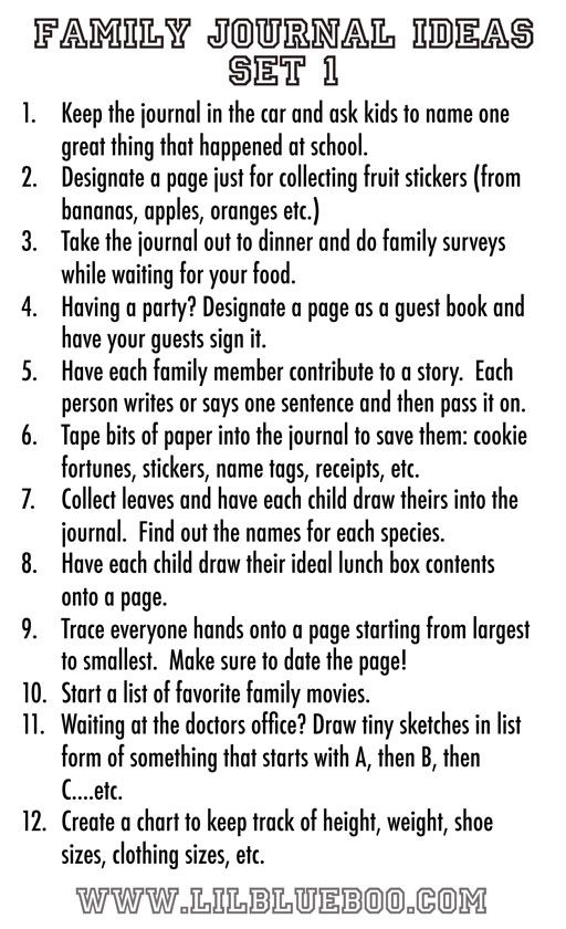 Family essay ideas