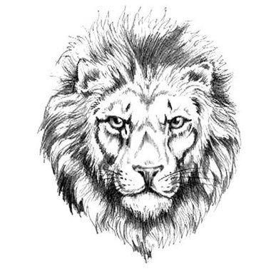 tatouage t te de lion en noir et blanc voil mon tatouage white lion tattoo designs. Black Bedroom Furniture Sets. Home Design Ideas