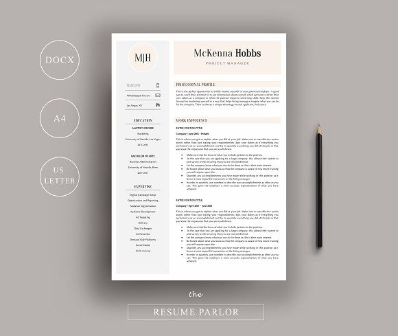 Resume  Page  Us  A By The Resume Parlor On Graphicsauthor